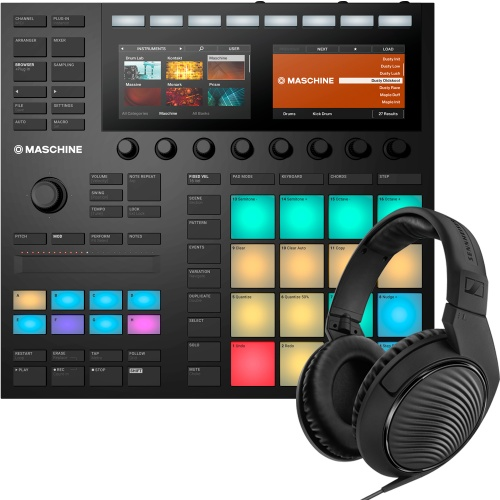 NI Maschine MK3 + Komplete Select & Sennheiser HD200 Pro Headphones
