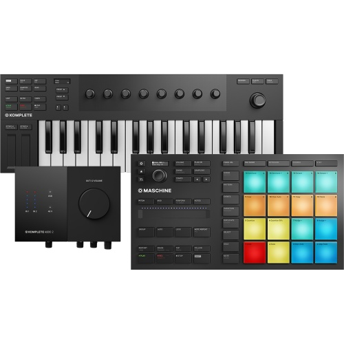 NI Maschine Mikro MK3, Komplete Kontrol M32 + Audio 2 Bundle Deal