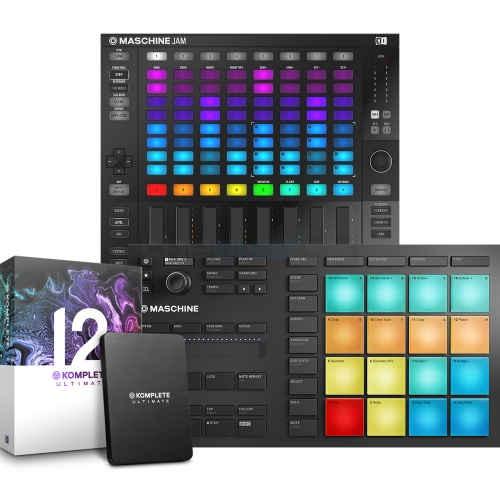 NI Maschine Mikro MK3 + Maschine Jam & Komplete 12 Ultimate Bundle