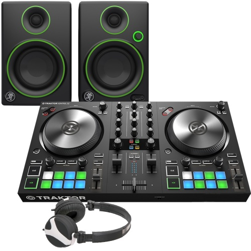 NI Traktor Kontrol S2 MK3 & Mackie CR3 + FREE Headphones Bundle Deal