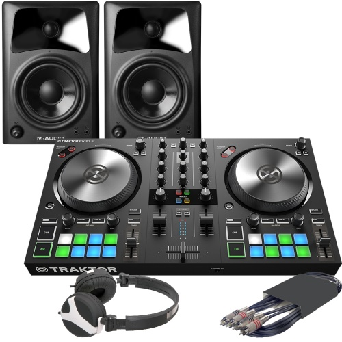 NI Traktor Kontrol S2 MK3 & M-Audio AV42 + FREE Headphones Bundle Deal
