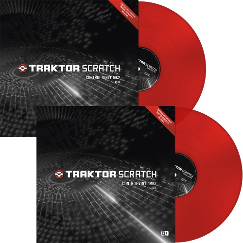 Native Instruments Traktor Scratch Red MK2 Timecode Vinyl (Pair)