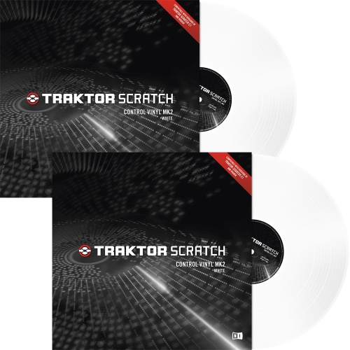 Native Instruments Traktor Scratch White MK2 Timecode Vinyl (Pair)