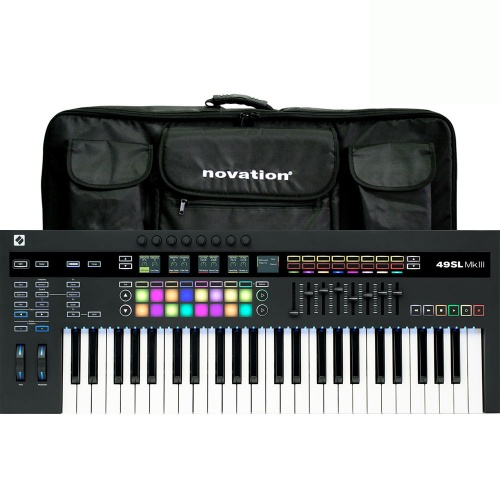 Novation 49SL MKIII Keyboard Controller with Gig Bag Bundle Deal