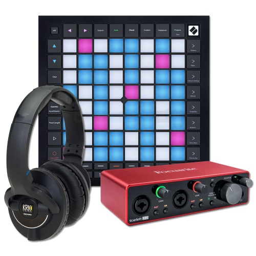 Novation Launchpad Pro MK3, KRK KNS8400, Focusrite Scarlett 2i2 G3