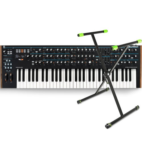 Novation Summit, 61-Key Polyphonic Synthesizer + Keyboard Stand