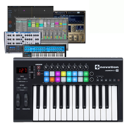 Novation Launchkey 25 MK2 Controller Keyboard, Mac, PC & iPad
