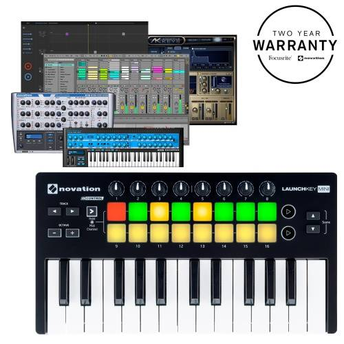 Launchkey Mini MK2, 25 Key USB MIDI Ableton Controller Keyboard