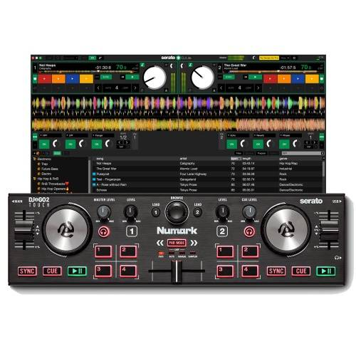 Numark DJ2GO2 Touch, DJ Controller, Audio Interface + Serato Lite