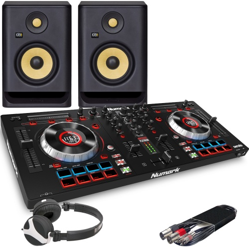 Numark Mixtrack Platinum, KRK Rokit RP5 G4 Speakers, Headphone Package