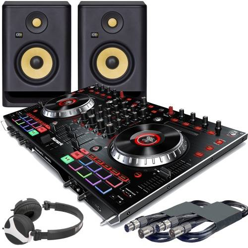 Numark NS6II, Serato DJ, KRK Rokit 5 G4 Monitors + Headphones Bundle Deal