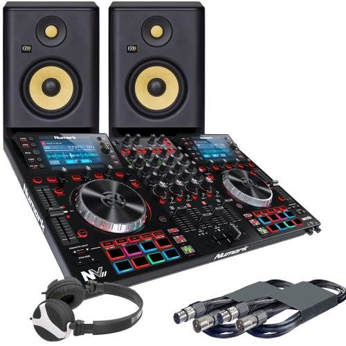 Numark NVII, RP5 G4 Monitors + Headphones Bundle