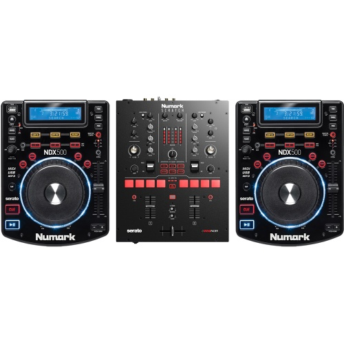 Numark Scratch Mixer, NDX500 Media Players + Serato DJ Pro Software