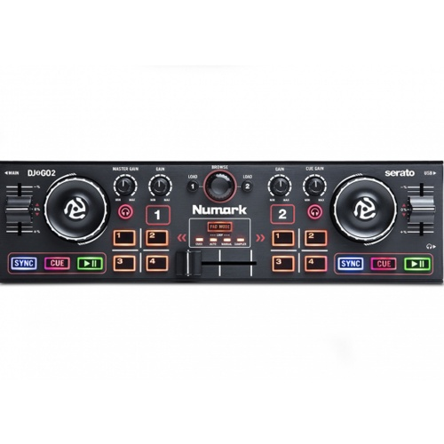 Numark DJ2GO2, Pocket DJ Controller, Audio Interface + Serato Lite