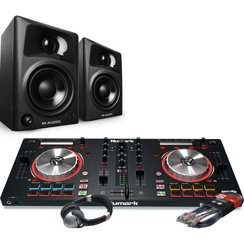 Numark Mixtrack Pro MK3, M-Audio AV32 Speakers, Headphone Package Deal