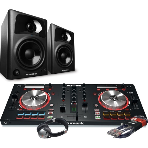 Numark Mixtrack Pro MK3, M-Audio AV42 Speakers, Headphone Package Deal