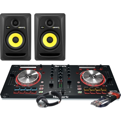 Numark Mixtrack Pro MK3, KRK Rokit RP5 Speakers, Headphone Package