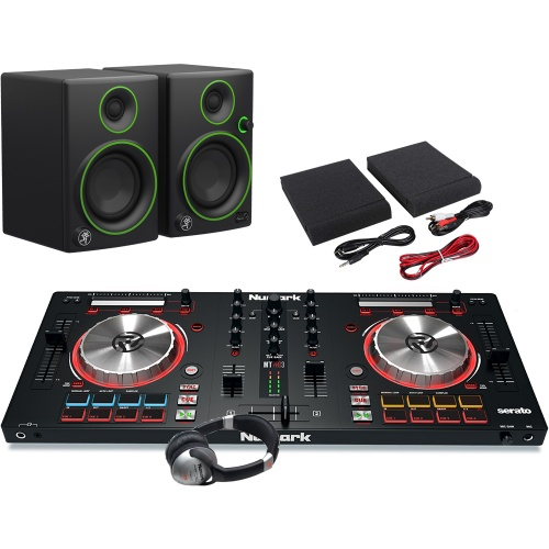 Numark Mixtrack Pro MK3, Mackie CR3 Speakers, Headphone Package Deal