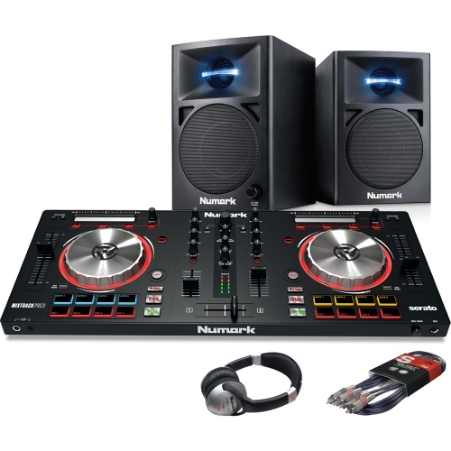 Numark Mixtrack Pro MK3, N-Wave 360 Speaker & Headphone Bundle