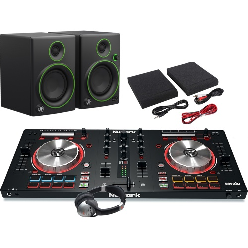 Numark Mixtrack Pro MK3, Mackie CR4 Speakers, Headphone Package Deal