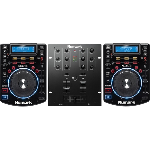 2 x Numark NDX500 Multimedia Players + M101USB Mixer Bundle