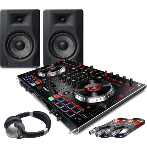 ​Numark NS6II, Serato DJ, M-Audio BX5 D3 Monitors + Headphones Bundle