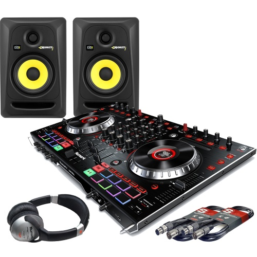 Numark NS6II, Serato DJ, KRK Rokit 5 Monitors + Headphones Bundle Deal