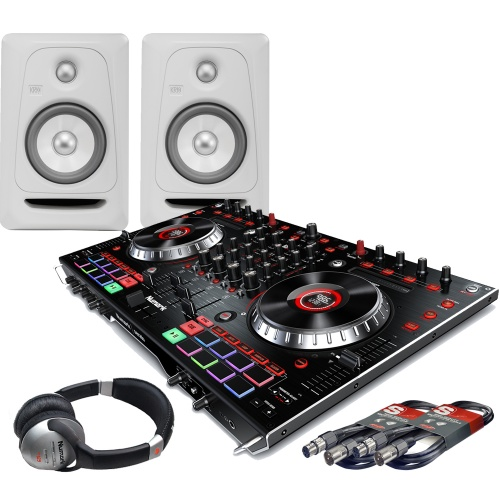 ​Numark NS6II, Serato DJ, KRK White Noise Monitors + Headphones Bundle