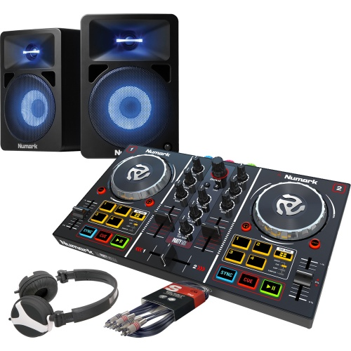 Numark Party Mix, Numark 580L Speaker & Headphone Bundle