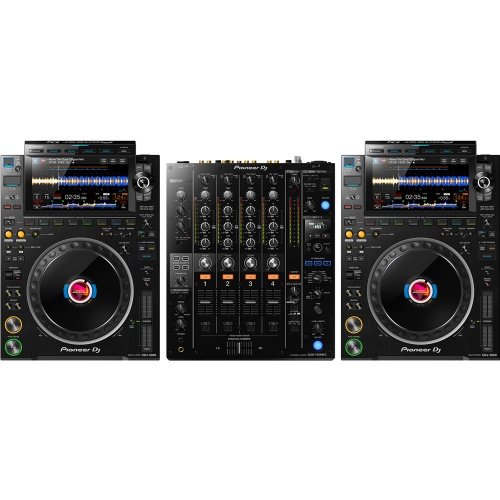Pioneer DJ CDJ-3000 Players (Pair) + DJM-750 MK2 Mixer Bundle Deal