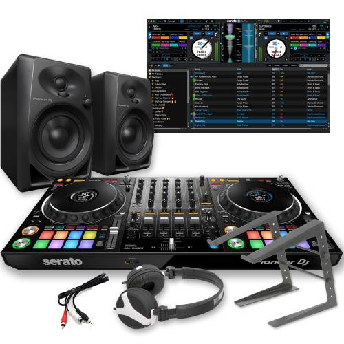 Pioneer DDJ-1000SRT + DM-40 Speakers, Laptop Stand & Headphones Bundle