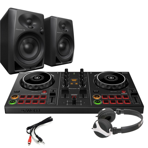 Pioneer DDJ-200 Wireless Controller, DM 40 Speakers & Headphones