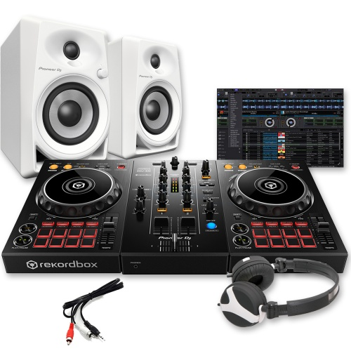 ​Pioneer DDJ-400 Controller, DM-40 White Speakers & Headphones Deal
