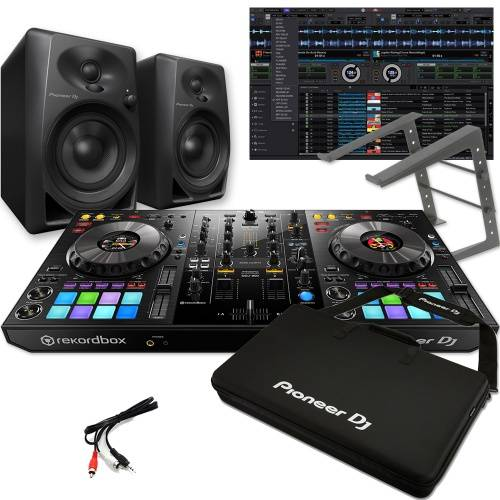 Pioneer DDJ-800 + DM-40 Speakers, Carry Bag & Laptop Stand Deal