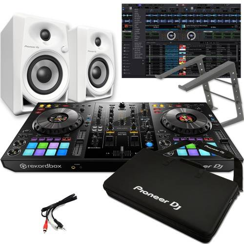 Pioneer DDJ-800 + DM-40 White Speakers, Carry Bag & Laptop Stand Deal