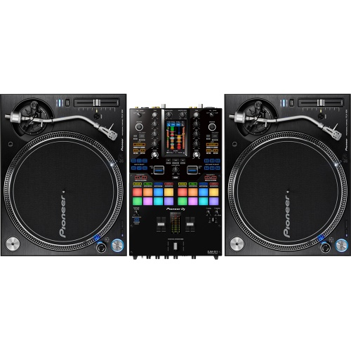 Pioneer 2x PLX1000 Turntables + DJM-S11 Battle Mixer Bundle Deal