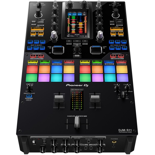 Pioneer DJM-S11, Pro 2-Channel / 4-Deck Battle Mixer With Touchscreen