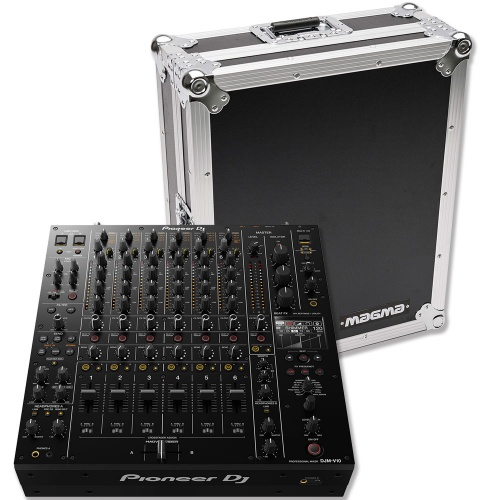 Pioneer DJM-V10, 6-Channel Professional Club Mixer & Magma Flight Case
