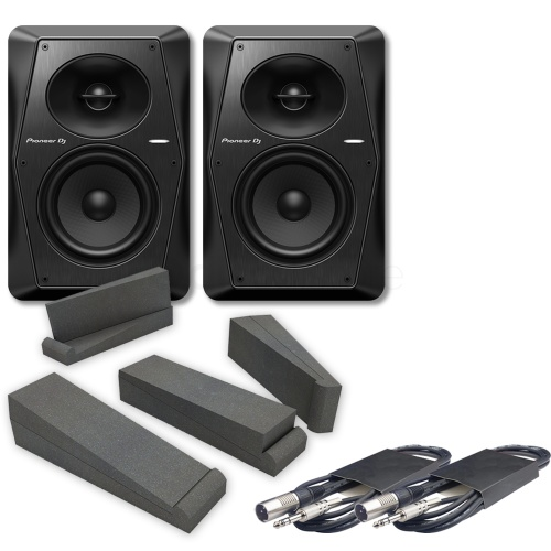 Pioneer DJ VM-50 (Pair) + Isolation Pads & Cables Bundle Deal