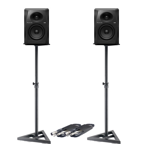 Pioneer DJ VM-70 (Pair) + Stands & Cables Bundle Deal
