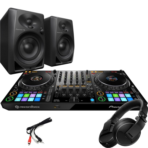 Pioneer DDJ-1000, DM-40 Monitors + HDJ Headphones Bundle