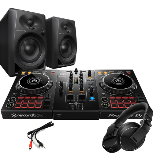Pioneer DDJ-400 Controller, DM-40 Speakers & HDJ Headphones Bundle