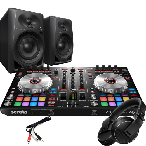 Pioneer DDJ-SR2 DJ Controller, DM-40 Monitors, Headphones Package Deal