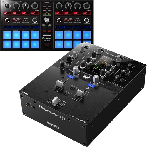 Pioneer DJM-S3 Mixer for Serato + DDJ-SP1 Performance Controller Bundle