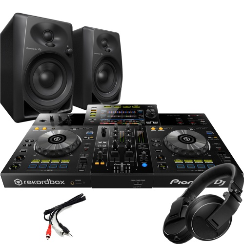 Pioneer XDJ-RR Controller, DM-40 Monitors & HDJ-X Headphones Bundle