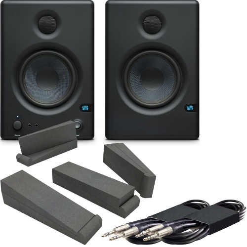Presonus Eris E4.5 Monitors (Pair) + Isolation Pads + Leads Bundle