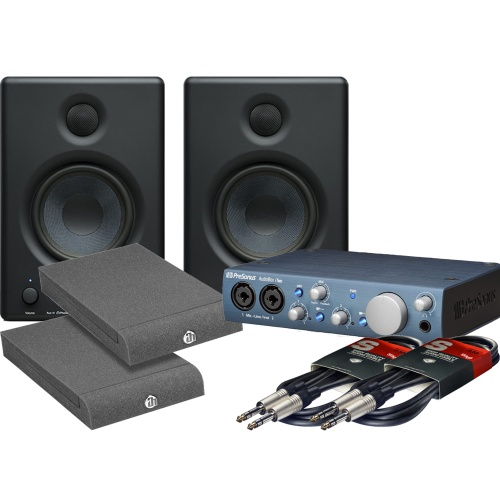Presonus Eris E4.5 Monitors, Audiobox iTwo, Iso Pads + Leads Bundle