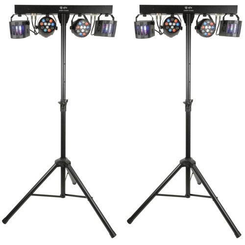 QTX LED Derby FX Bar with Stand (Pair)