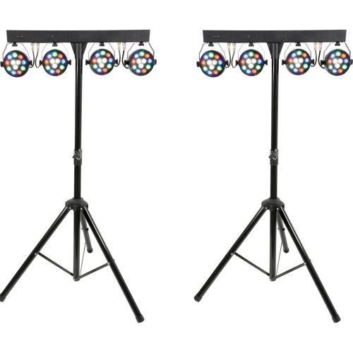QTX Portable LED Par Bar Lighting System (Pair)