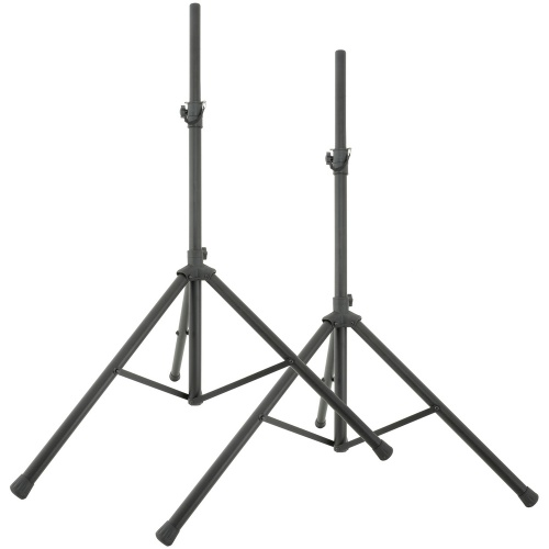 QTX Tripod PA Speaker Stands + Carry Bag